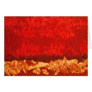 Rojo abstracto horizontal y oro del saludo tarjeta de felicitación
