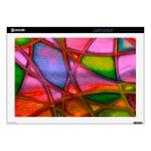 rojo abstracto imponente portátil calcomanía