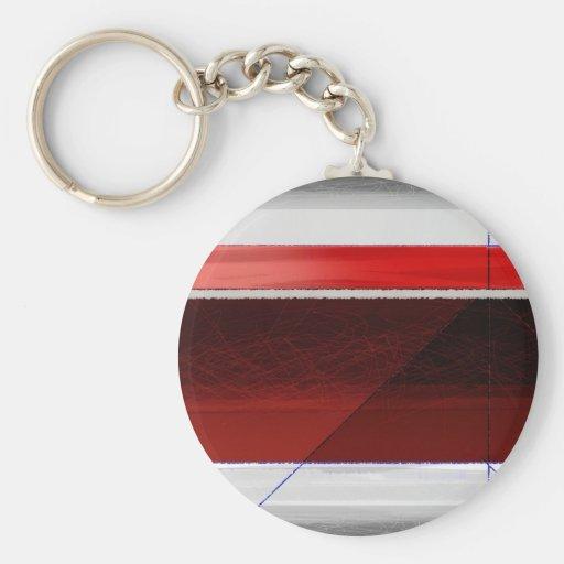 Rojo abstracto llavero redondo tipo pin
