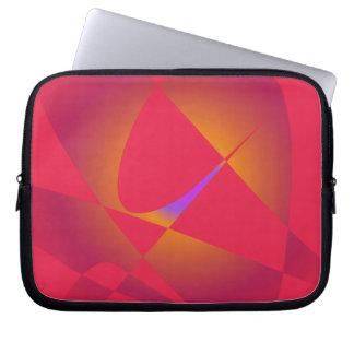 Rojo abstracto simple funda portátil