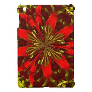 Rojo abstracto y oro iPad mini coberturas