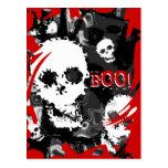 """Rojo """"abucheo del remolino de los espectros B&W de Tarjetas Postales"""