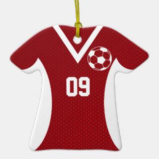 Rojo adaptable del jersey de fútbol ornamentos de navidad