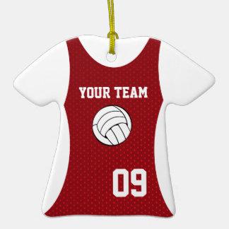 Rojo adaptable del jersey del voleibol adorno de cerámica en forma de camiseta