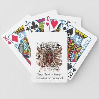 rojo afectado de la cólera eterna del orgullo baraja de cartas