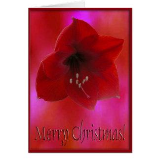Rojo Amarilla de la Feliz Navidad Tarjeta De Felicitación