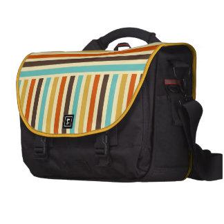 Rojo amarillo azul de las rayas horizontales verti bolsas de portátil