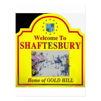 Rojo amarillo de Shaftesbury Postales