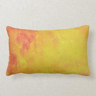 Rojo amarillo-naranja del extracto de la acuarela almohadas