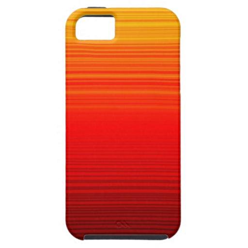Rojo, amarillo y diseño rayado anaranjado de la pe iPhone 5 Case-Mate funda