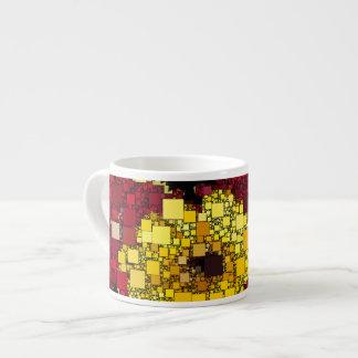 Rojo, amarillo y mini fondo de las cajas del oro tazitas espresso