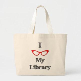 Rojo - amor de I mi biblioteca Bolsa Tela Grande