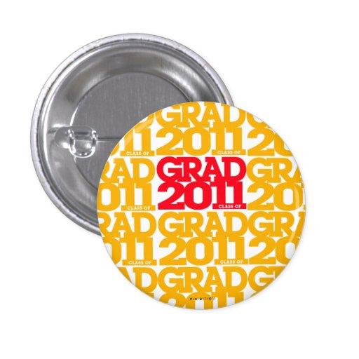 Rojo anaranjado 3 del botón de las graduaciones 20 pin