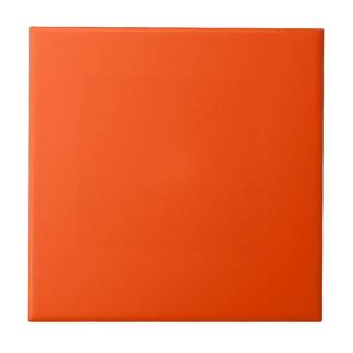 Rojo anaranjado sólido azulejo cuadrado pequeño