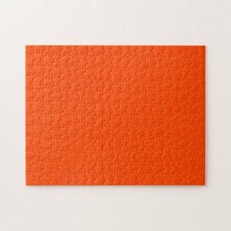 Rojo anaranjado sólido rompecabeza