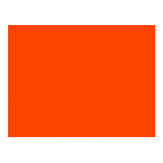 Rojo anaranjado tarjeta postal