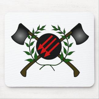 Rojo anarquía comunistas de la cabeza de la piel d tapete de raton