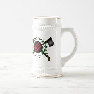 Rojo/anarquía comunistas de la cabeza de la piel d tazas de café