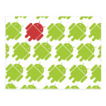 Rojo androide que vuela tarjeta postal