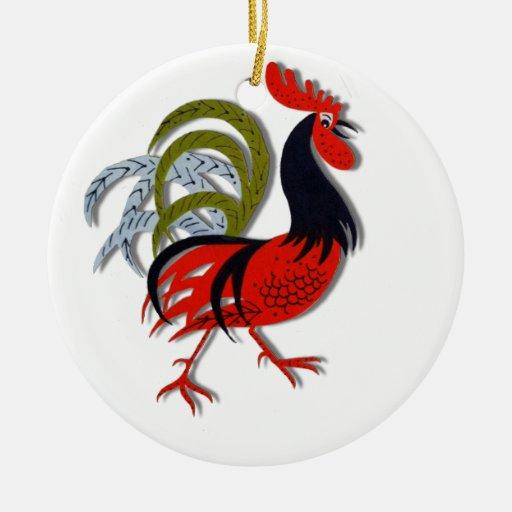 Rojo animado del personalizar del dibujo animado ornamento para arbol de navidad