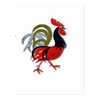 Rojo animado del personalizar del dibujo animado postal
