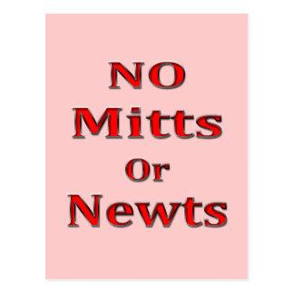 Rojo anti de Newt Gingrich Mitt Romney Tarjetas Postales