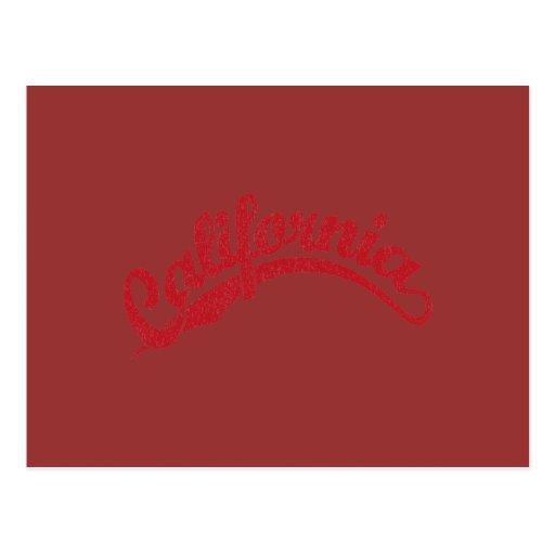 Rojo apenado postales
