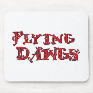 Rojo apilado Dawgs del logotipo del vuelo Tapete De Ratones