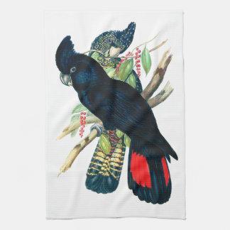 Rojo atado, Cockatoos. negros (de Banksian) Toalla De Mano