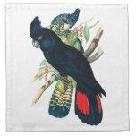 Rojo atado, Cockatoos. negros (de Banksian) Servilleta