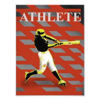 rojo atlético arte con fotos
