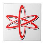 Rojo atómico azulejos ceramicos