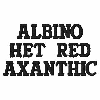Rojo Axanthic del Het del albino