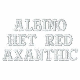Rojo Axanthic del Het del albino Sudadera Con Capucha