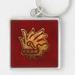 Rojo AZTECA y oro de Malinalli Llavero Personalizado