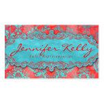 Rojo azul 2 del ante del damasco de la tarjeta de  plantillas de tarjetas de visita