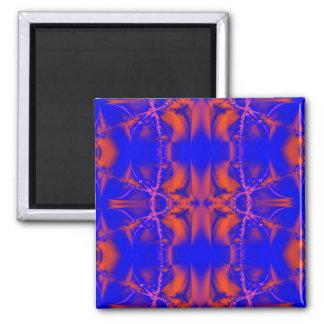 rojo azul brillante imán cuadrado