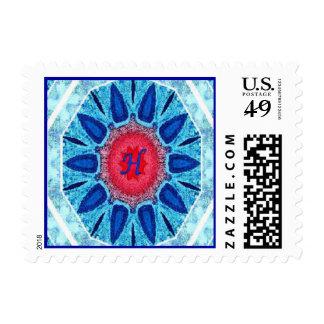 Rojo azul de Jánuca y sello de la mandala de la ag
