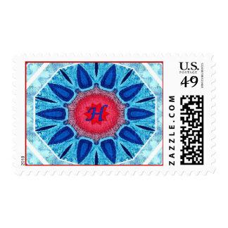 Rojo azul de Jánuca y sello medio de la mandala de