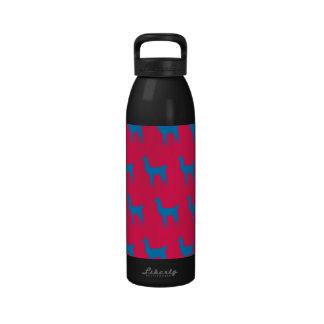 Rojo azul de la llama botella de agua