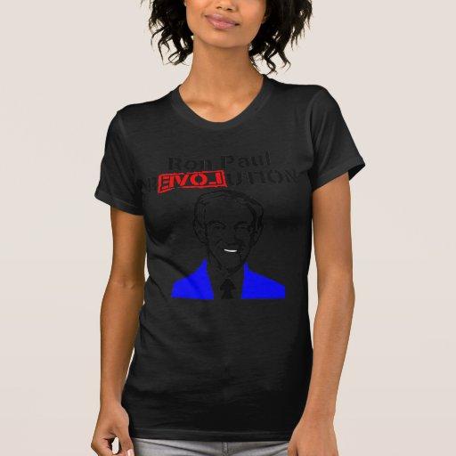 Rojo azul de la revolución n de Ron Paul Playera