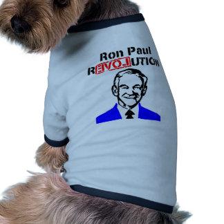 Rojo azul de la revolución n de Ron Paul Camisetas De Perrito