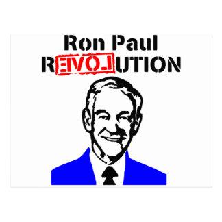 Rojo azul de la revolución n de Ron Paul Tarjeta Postal