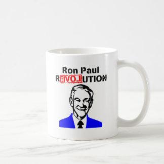 Rojo azul de la revolución n de Ron Paul Taza De Café