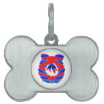 ROJO AZUL de n: Guirnalda del modelo del diamante Placas De Nombre De Mascota