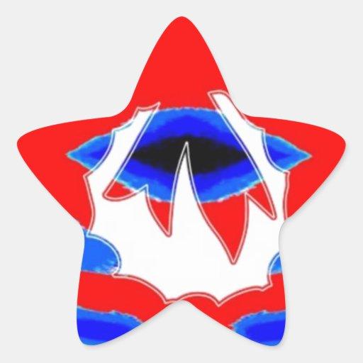 ROJO AZUL de n: Guirnalda del modelo del diamante Pegatina En Forma De Estrella