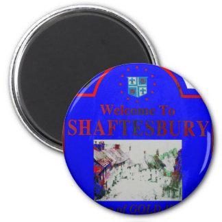 Rojo azul de Shaftesbury Imán Redondo 5 Cm