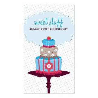 Rojo azul de VISITA de la TARJETA de la torta de l Tarjetas De Visita