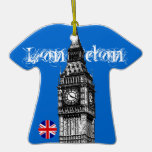 Rojo azul del ornamento de la camiseta de Big Ben Ornamentos Para Reyes Magos
