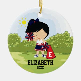 Rojo azul del ornamento del navidad del chica de ornamento para arbol de navidad